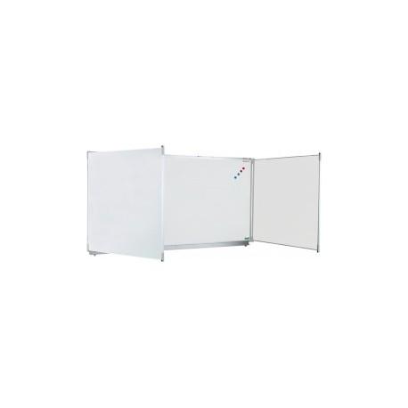 POLYVISION Triptyque CLASSIC 120x200 cm, fond émail e3 blanc projection, volets émail e3 blanc feutre
