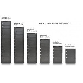 NoteLocker 12 casiers au sol