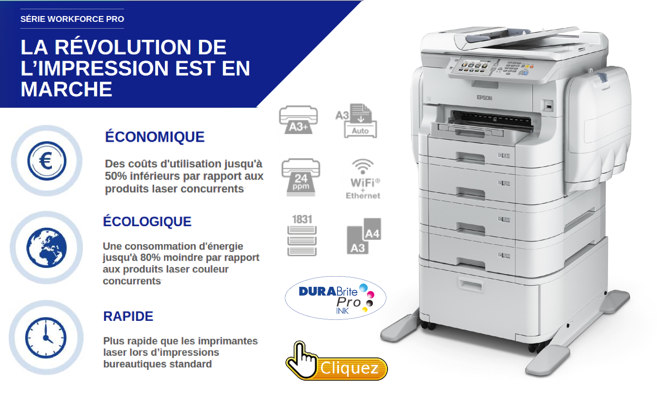 EPSON imprimantes grands volumes